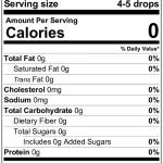 nutrition label for monk fruit liquid